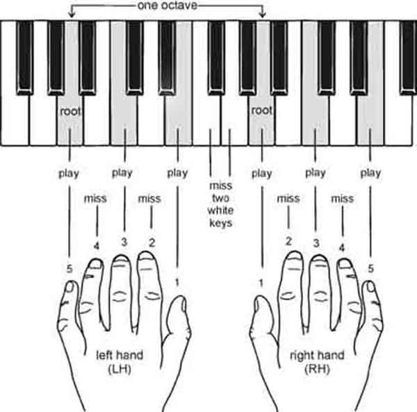 تمرین انگشت گذاری برای پیانو و کیبورد(با آموزش تصویری)