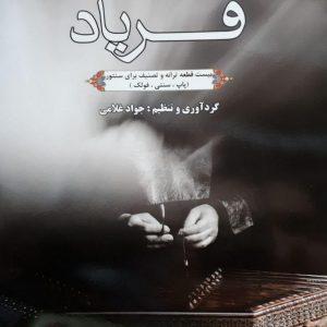 خرید کتاب فریاد جواد غلامی ( بیست قطعه ترانه و تصنیف برای سنتور)