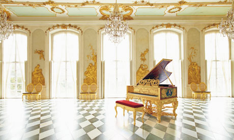 The replica Bechstein Louis XV grand piano