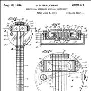 Diagrams of Rickenbacker Lap-steel Guitar Design From 1934