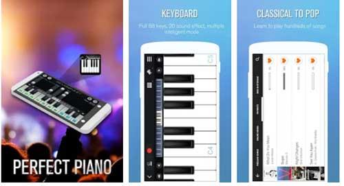 اپلیکیشن آموزش پیانو Perfect Piano