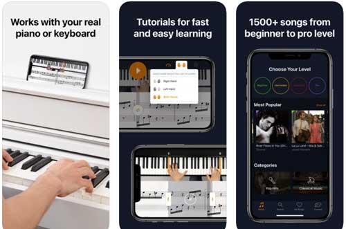 اپلیکیشن یادگیری پیانو Flowkey